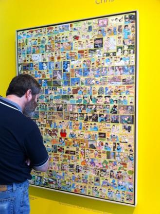 Michael studying Art at the Edmonton Art Gallery
