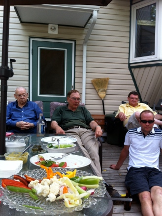 Men folk. My Gido, Uncle Carl, Uncle Ed, Cousin Scott.