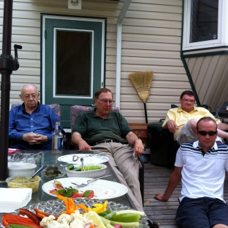 Men folk. My Gido, Uncle Carl, Uncle Ed, Cousin Scott.