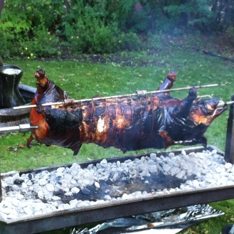Pig roast at Urban Manor!