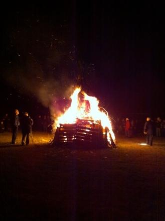 Guy Fawkes bon fire at the Edmonton Scottish Society.