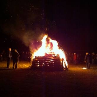 Guy Fawkes bon fire at the Edmonton Scottish Society.