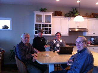 Ed, my lovely Mom, Michael, Uncle Carl