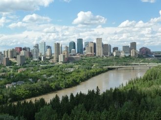 Sunny summertime view of Edmonton