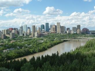 Sunny summertime view of Edmonton