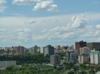 Another summer-time view of Edmonton.