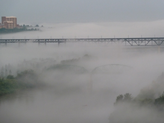 More fog in the river valley.