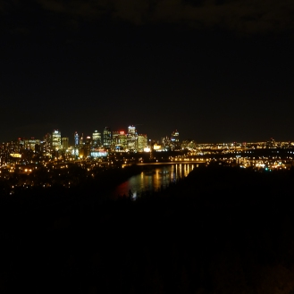Edmonton at night.